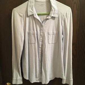 LOFT soft cotton button up